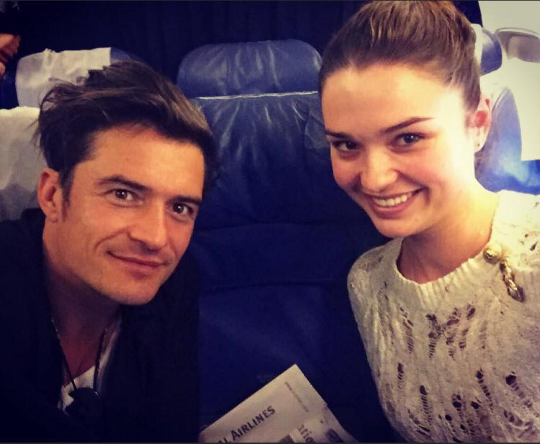 Орландо Блум и Мисс Украина 2013