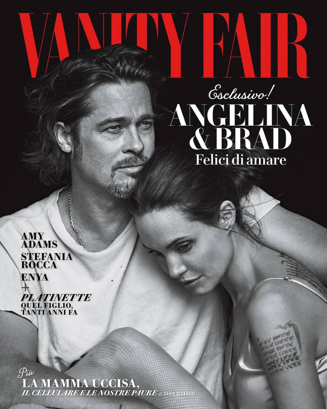 Брэд Питт и Анджелина Джоли украсили обложку Vanity Fair