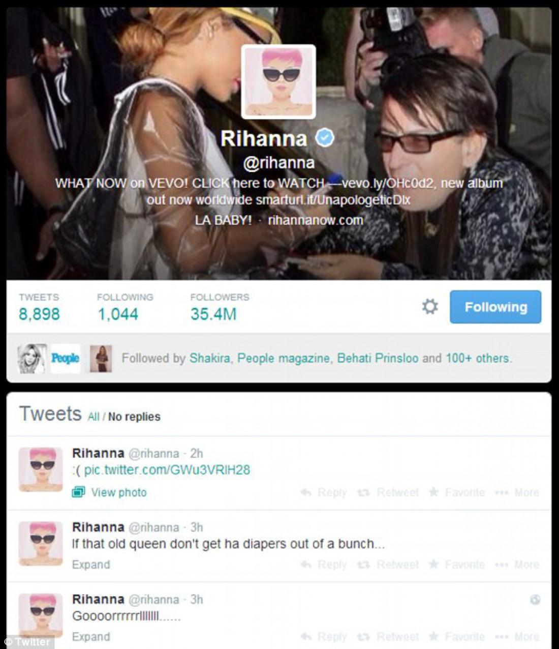 Пост в Twitter Рианны