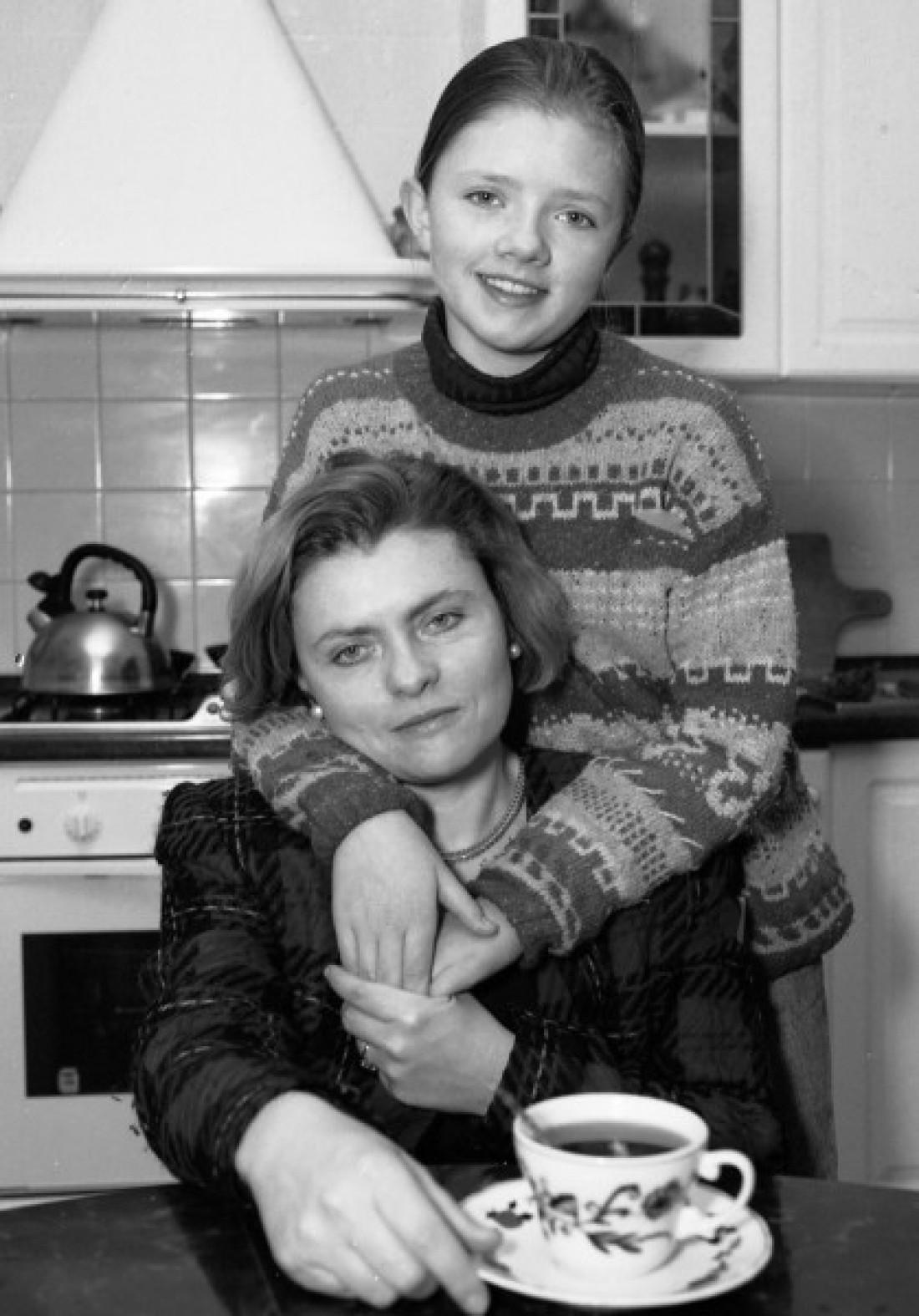 Соломія Павличко з дочкою