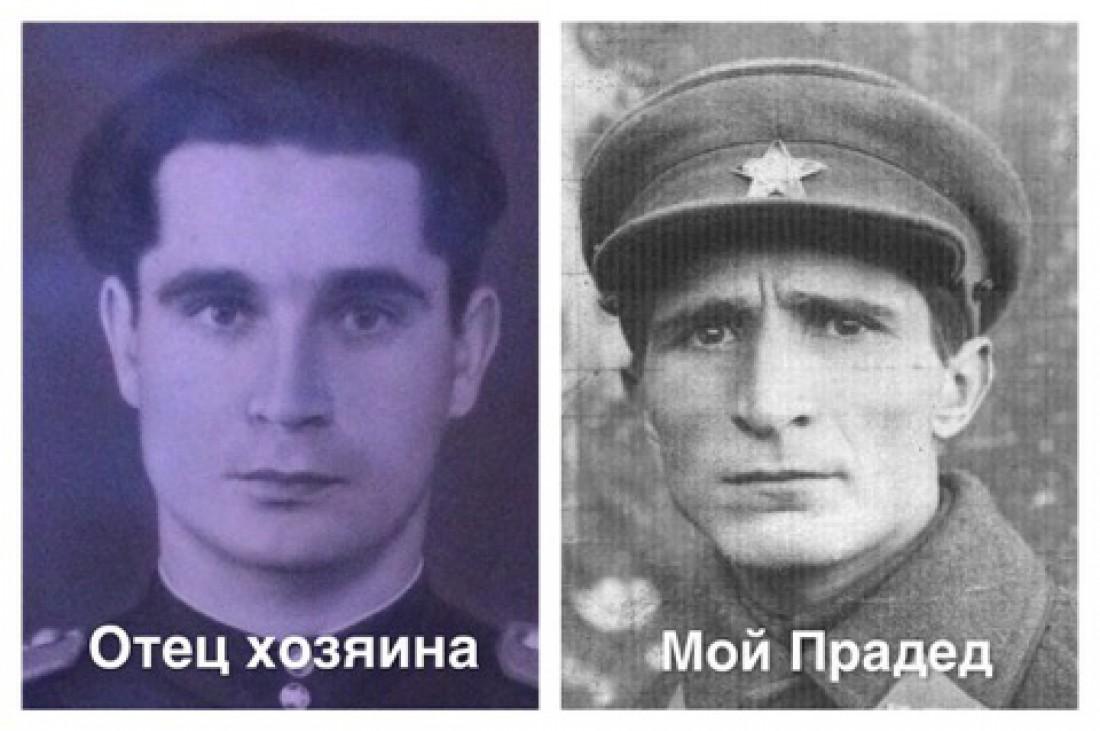 Слева – фото отца хозяина дома, справа – прадед Дмитрия Саранскова