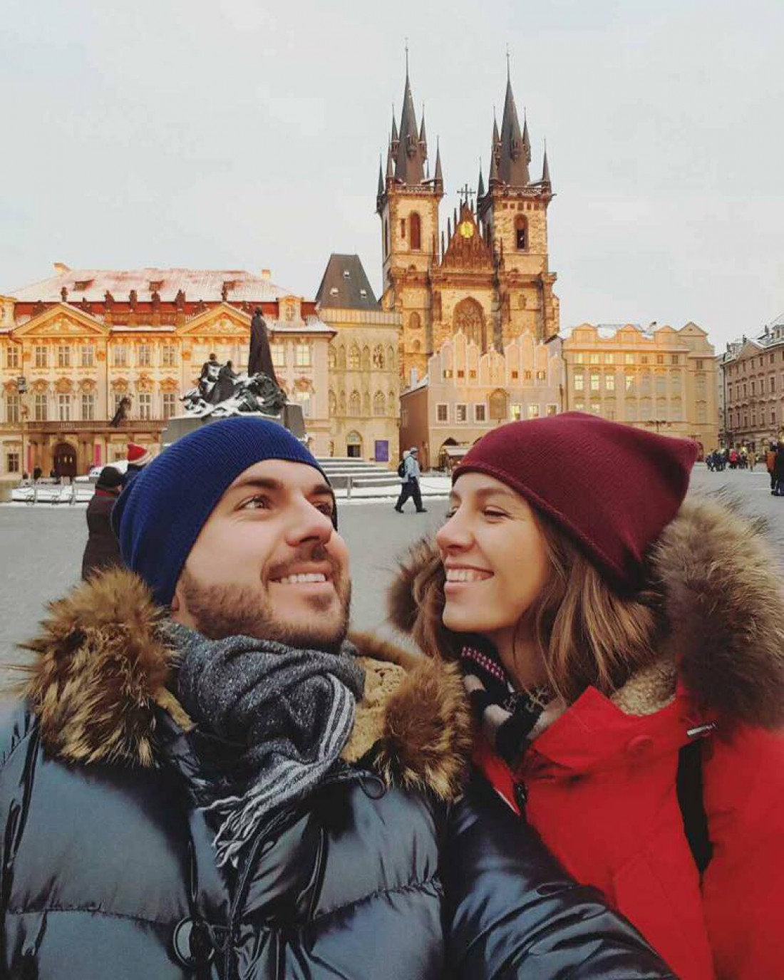 Прага: Гриша с женой