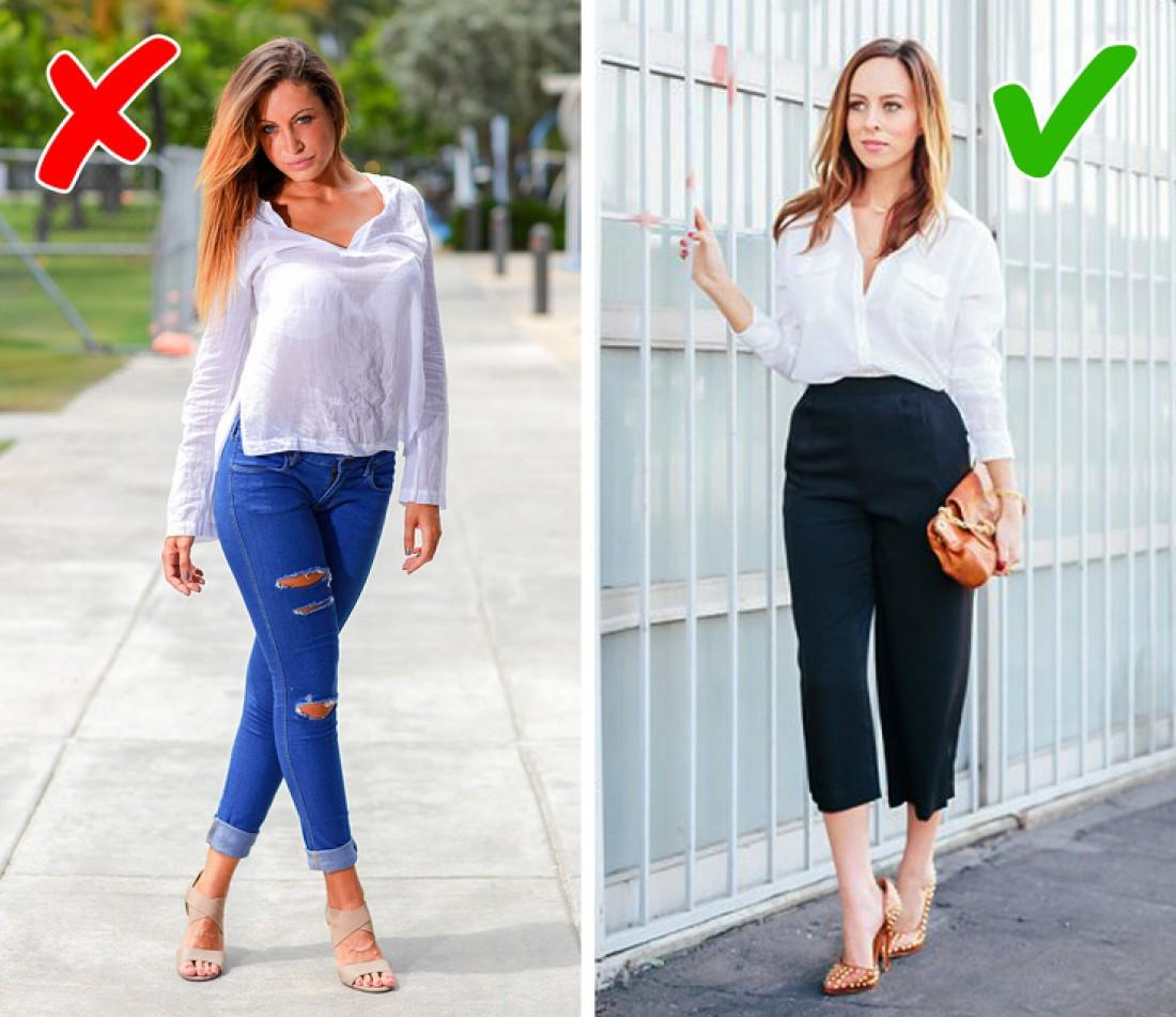 Ошибки в одежде, которые мешают выглядеть стильно