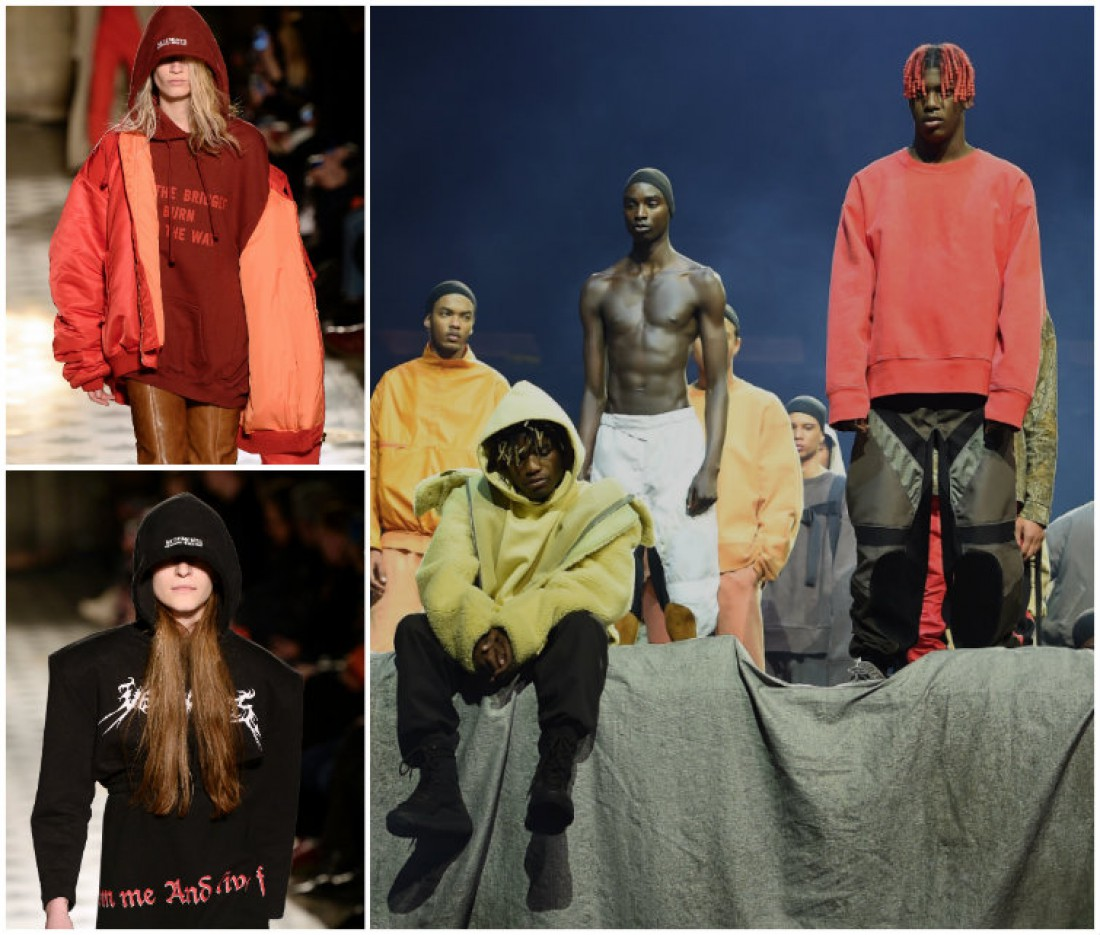 Худи на показах Vetements and Yeezy