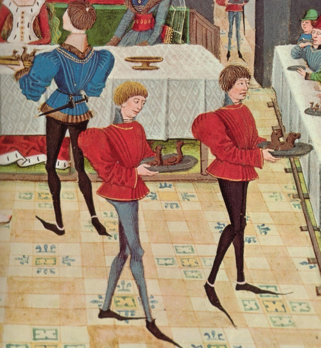 Пулены были самой популярной обувью у мужчин в конце 14-го века