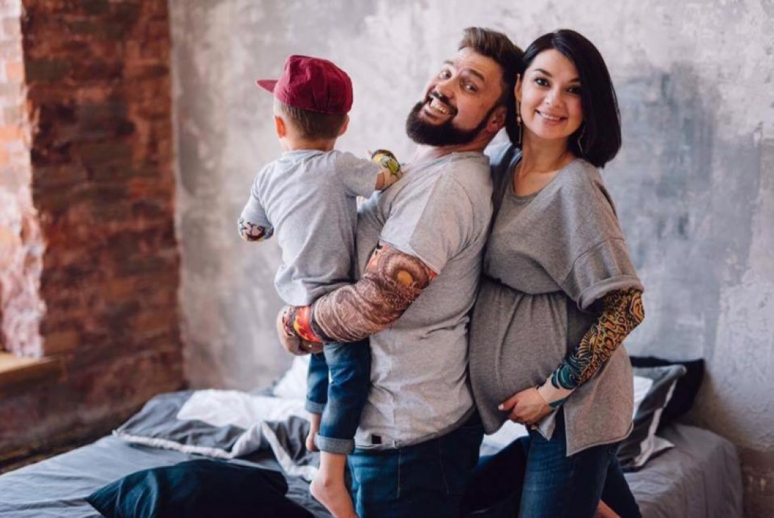 Григорий Герман с семьей