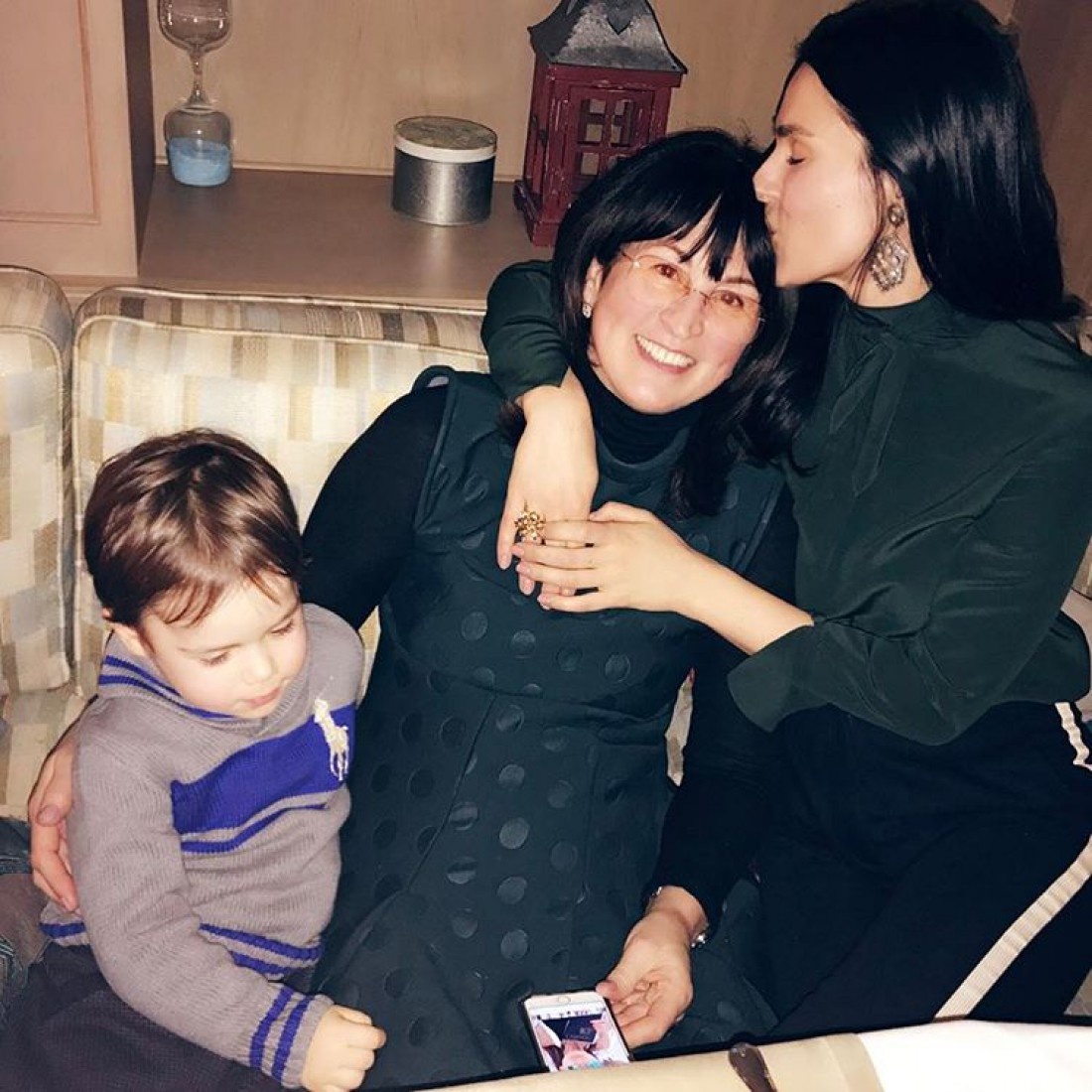 Ефросинина с мамой и сыном