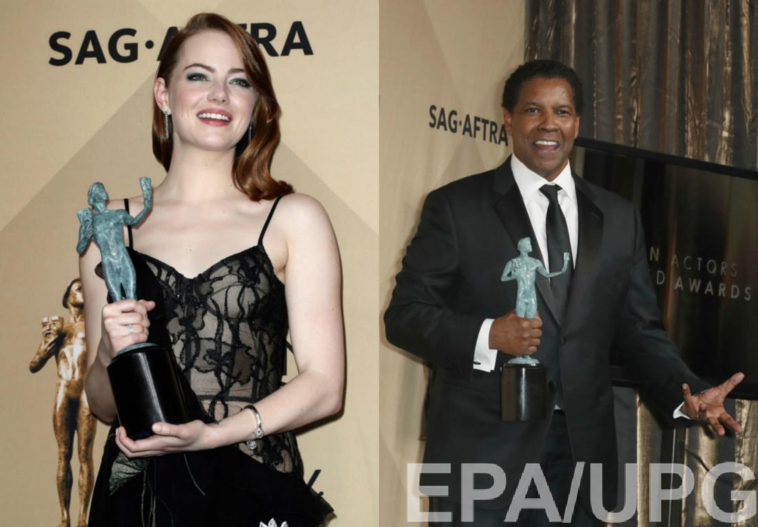 SAG Awards 2017: победители Эмма Стоун и Дензел Вашингтон