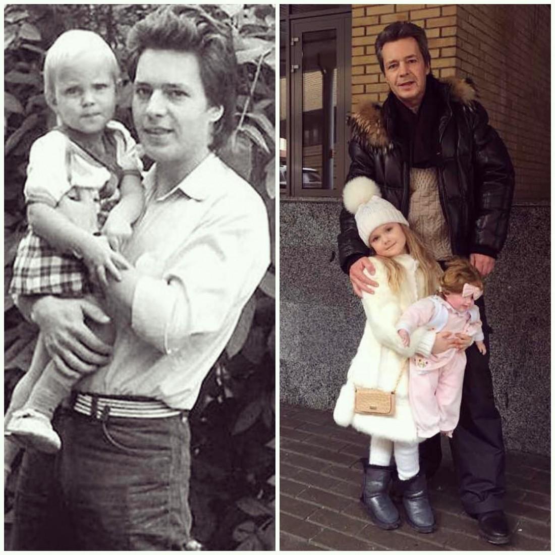 Слева: Глюкоза и ее отец. Справа: Отец Глюкозы и ее дочь
