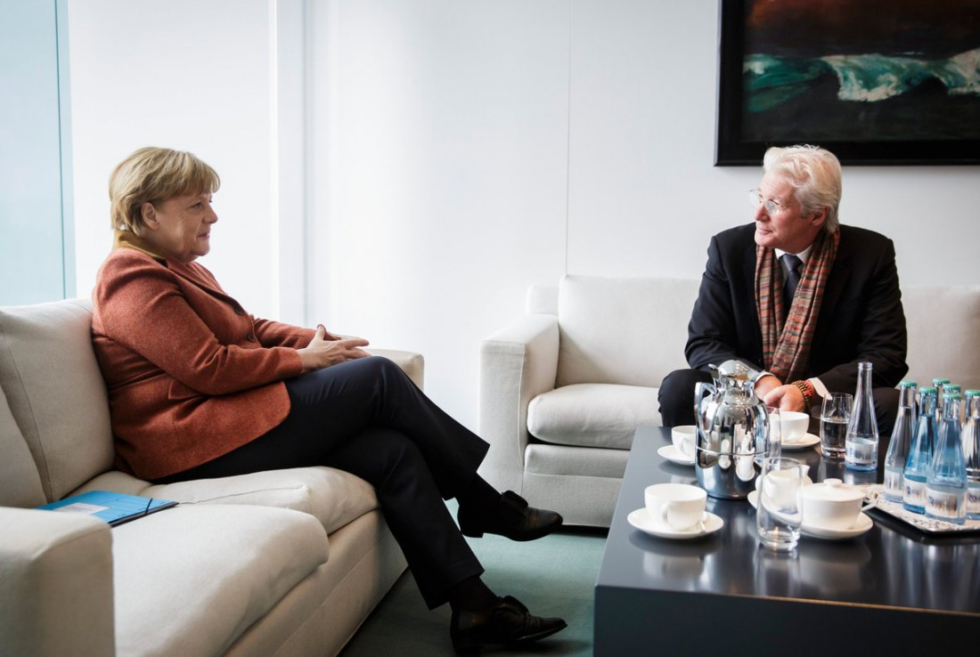 Ричард Гир вдохновил Меркель наборьбу засвободу Тибета