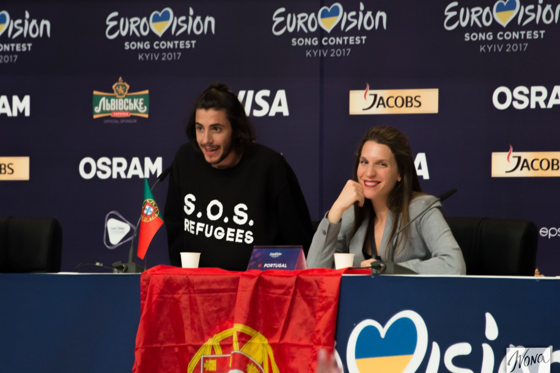 Евровидение 2017 Португалия: Сальвадор Собрал на пресс-конференции