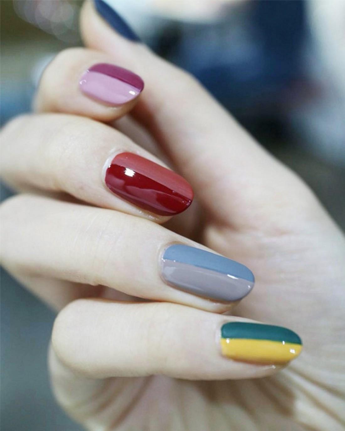 Ногти-половинки