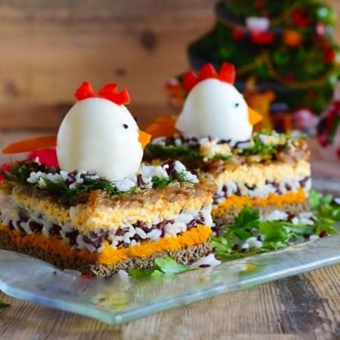 Новогодние салаты для детей: Салат