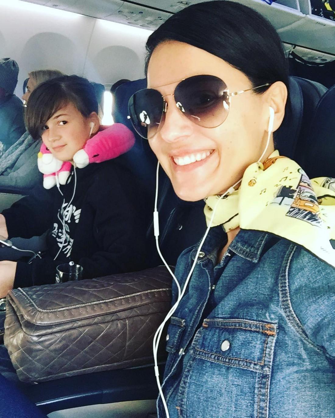 Телеведущая Маша Ефросинина с дочкой Наной