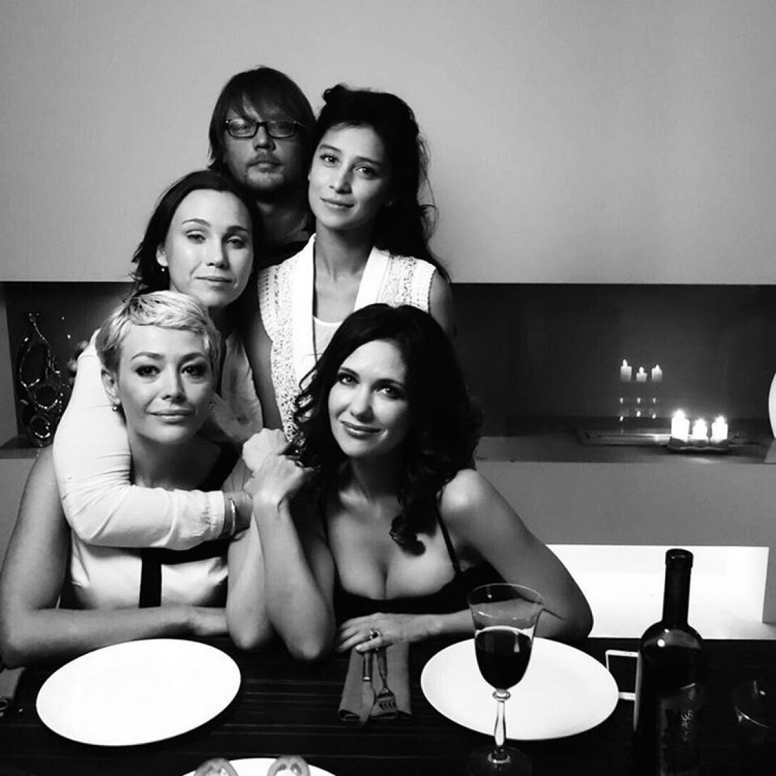 Екатерина Климова с коллегами в новом сериале Влюбленные женщины