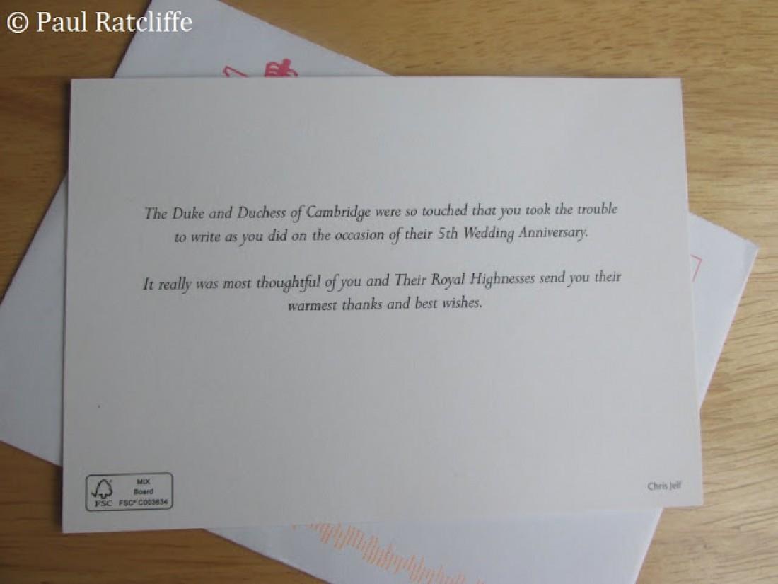 Королевская семья поблагодарила за поздравленя