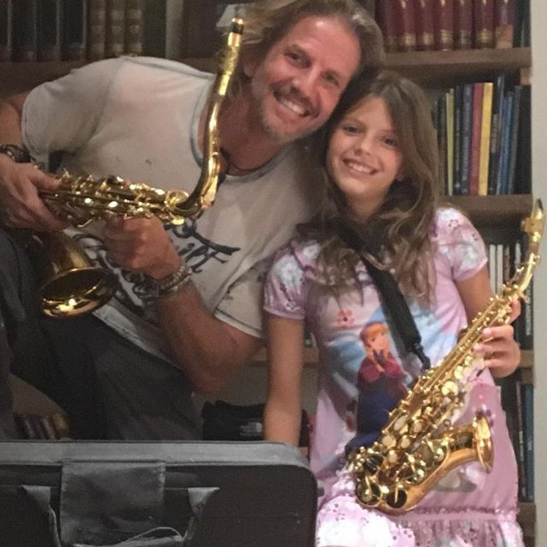 Актер с дочкой