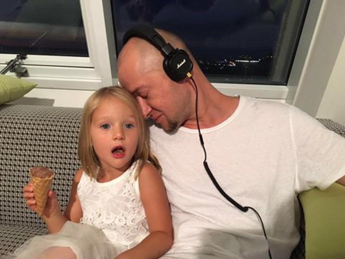 Андрей Хлывнюк с дочерью