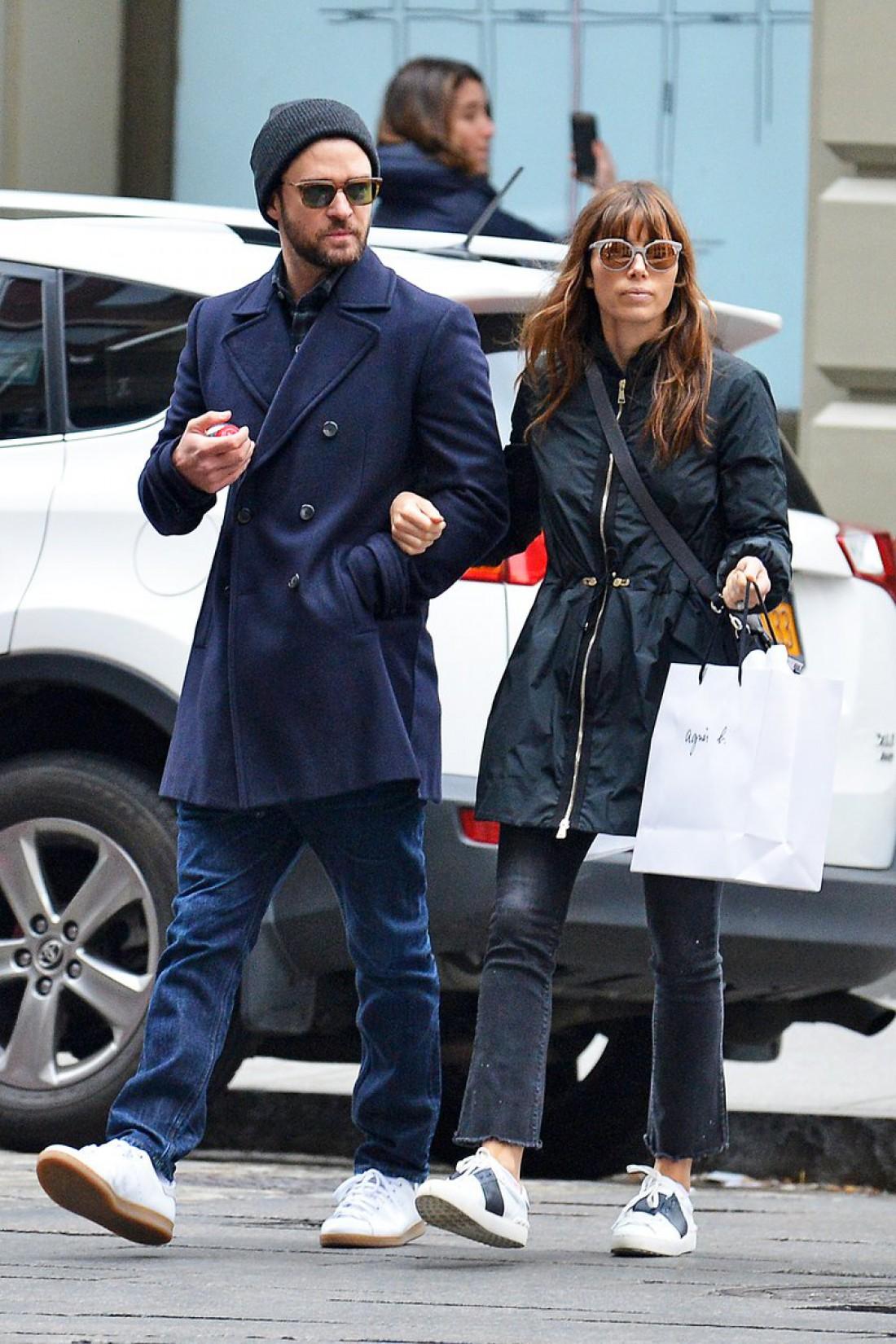 Бил и Тимберлейк во время прогулки в Нью-Йорке