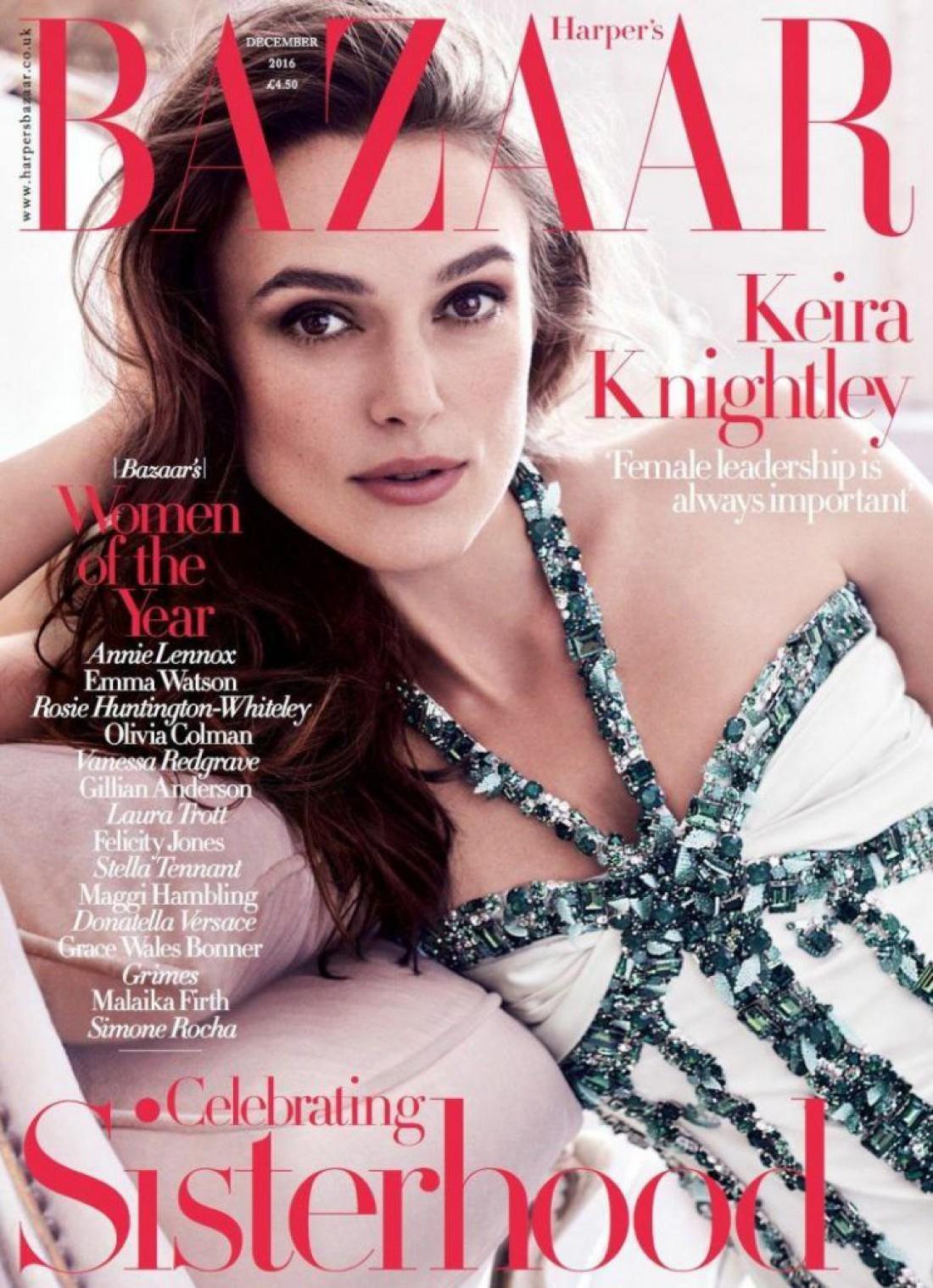Кира Найтли в новой фотосессии Harper's Bazaar