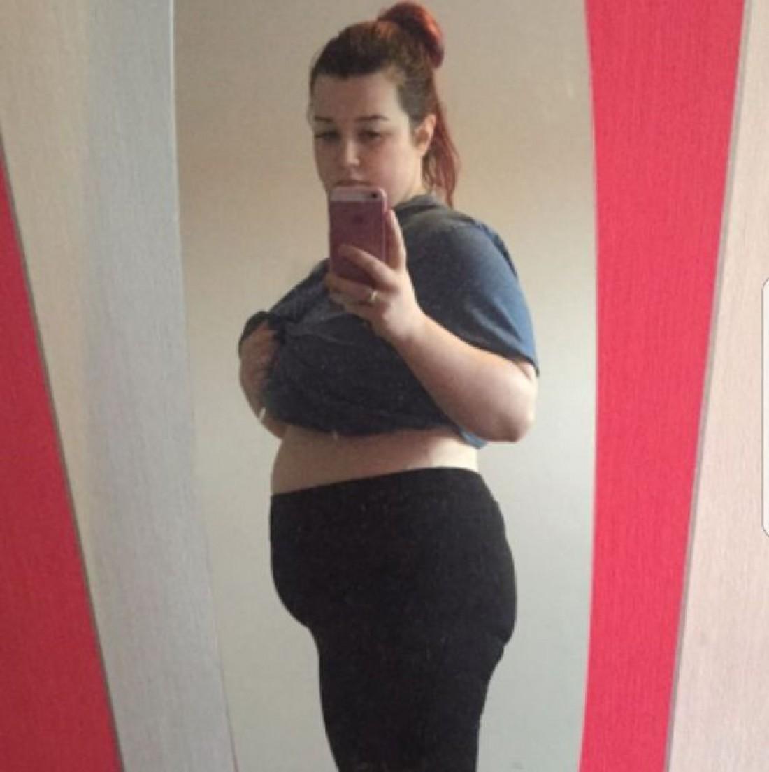 Девушка до похудения