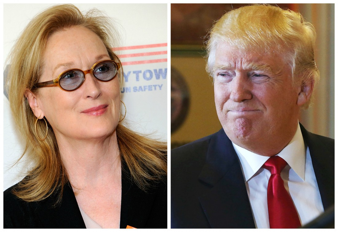 Мирил Стрип и Дональд Трамп