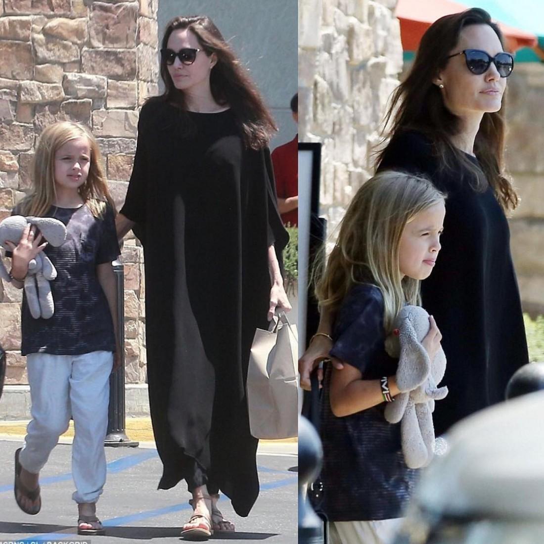 Анджелина Джоли с дочерью Вивьен