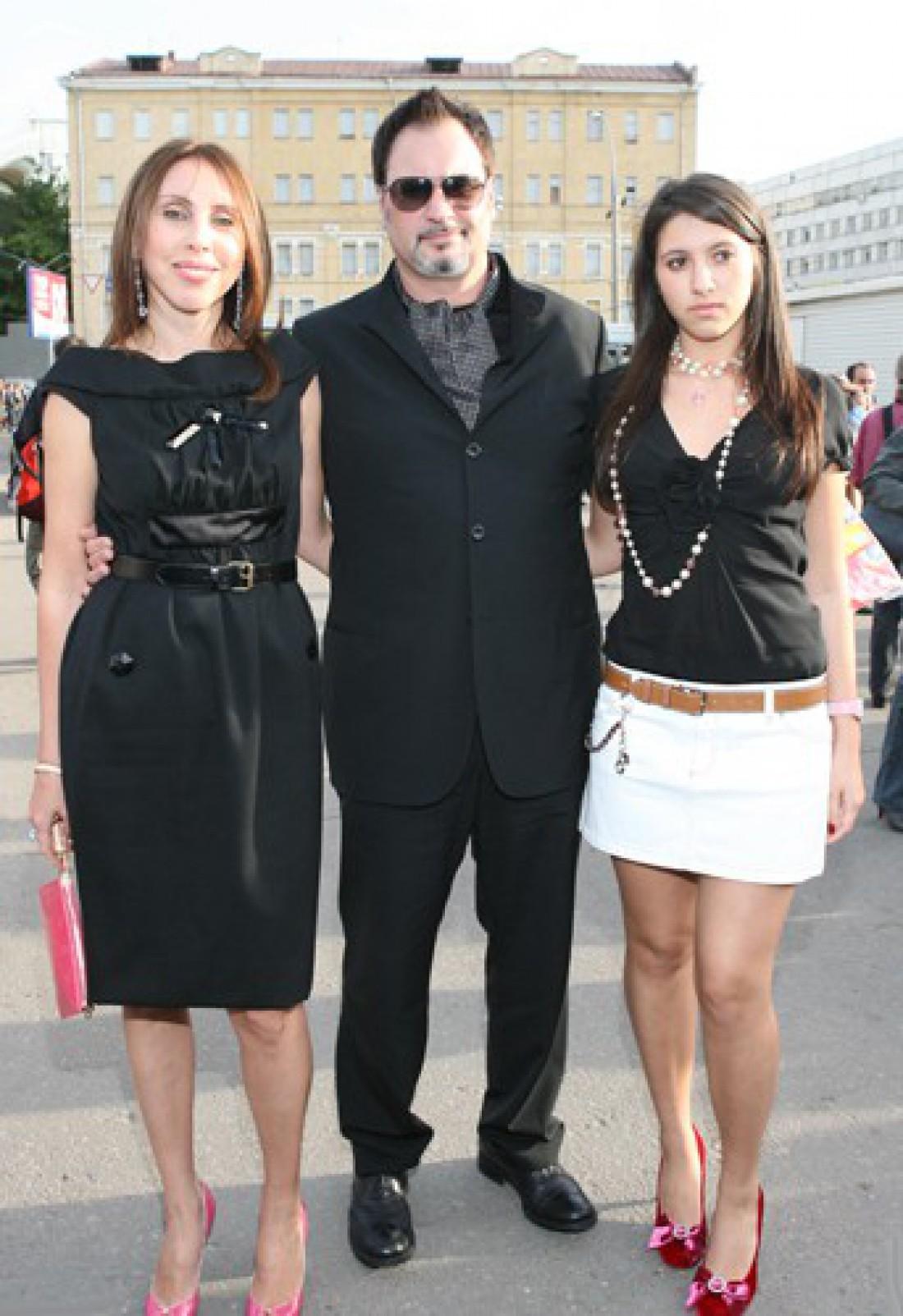 Валерий Меладзе с экс-женой Ириной и дочкой Ингой