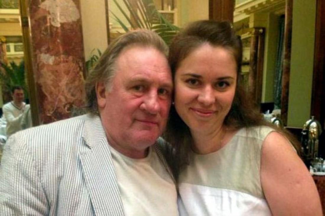 Жерар Депардье и Елена Сурина