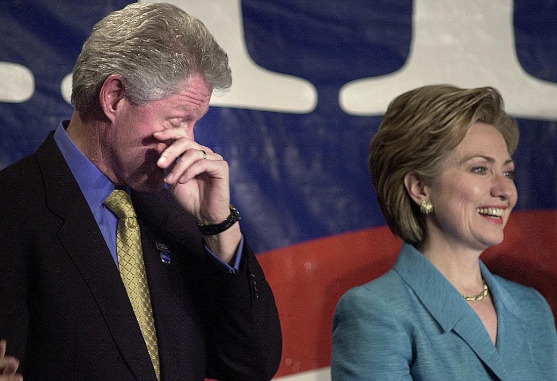 Хиллари Клинтон с мужем