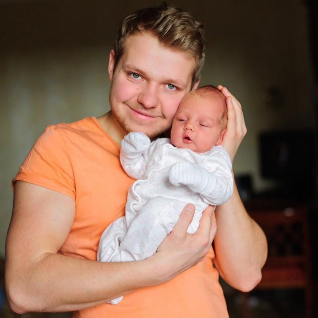Богдан Олейник з дочкою Мілою