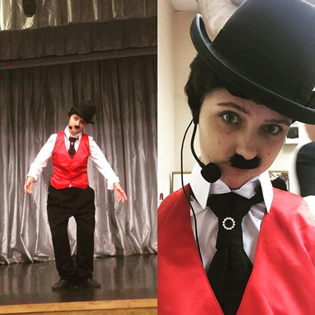 Наталья в образе Чарли Чаплина