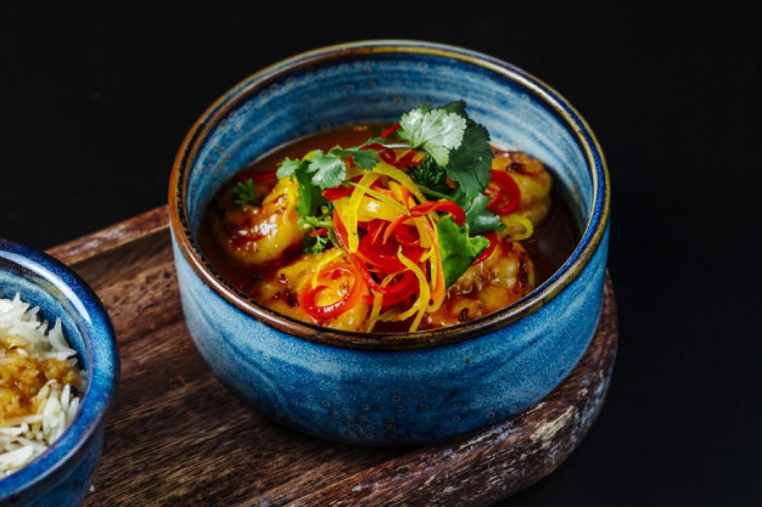 Теплый салат с мидиями и фасолью: рецепт