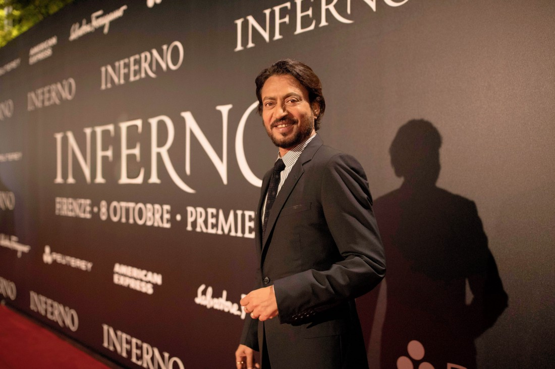 Ирфан Кхан на премьере Инферно во Флоренции