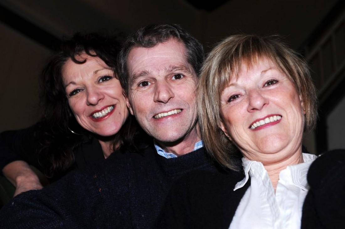 Даниэль с сестрами – Жислейн и Клодетт (справа)