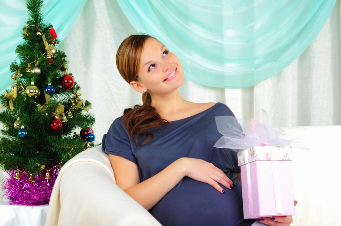 Беременной новый год