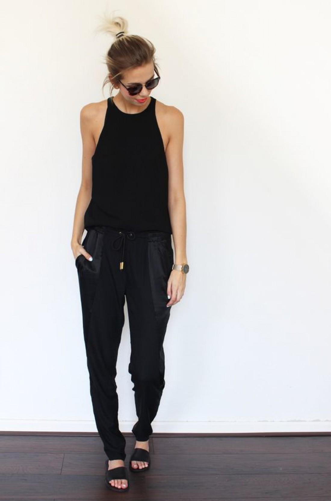Как носить черный летом: вариант №3
