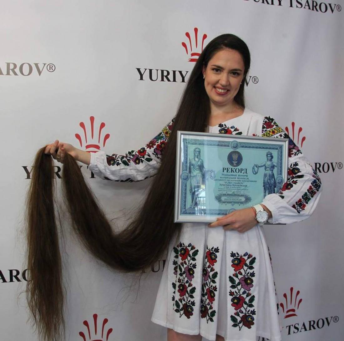 Кристина Кречковская стала рекордсменкой Украины по длине волос