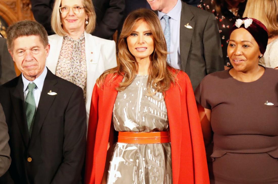 Меланья Трамп снова произвела фурор своим нарядом
