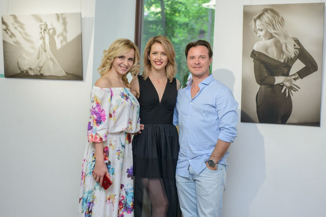 Лилия Ребрик с мужем и Татьяна Кизеева