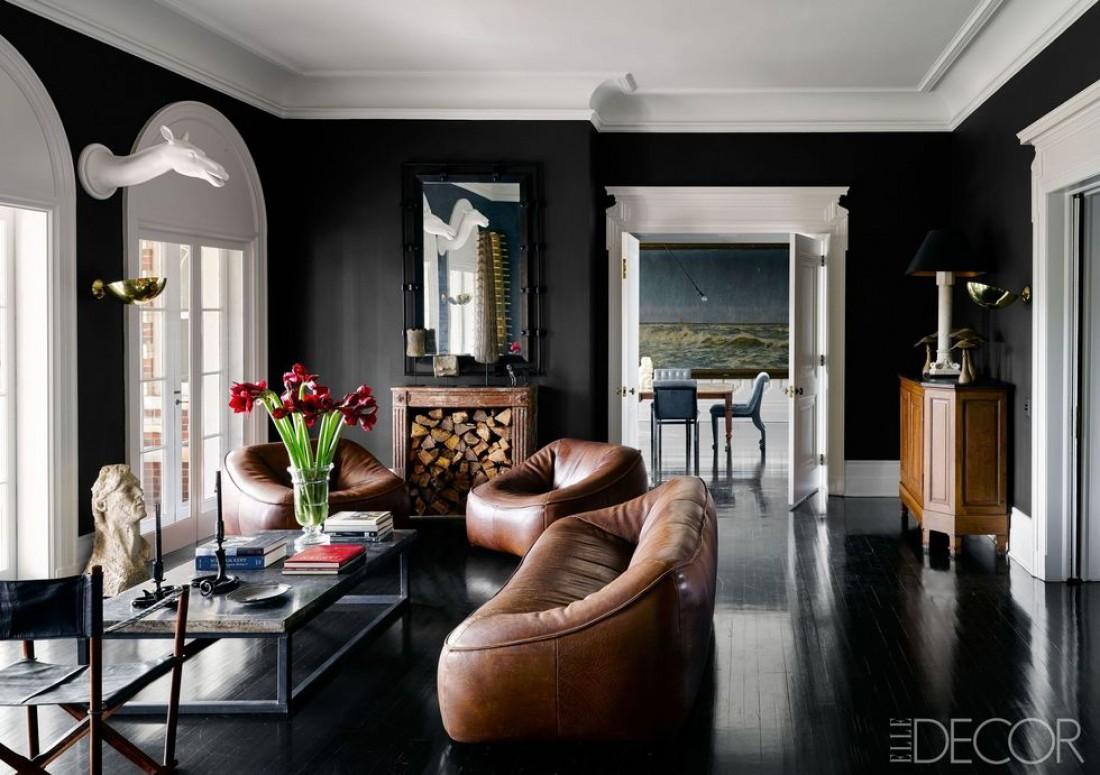 Идеи для оформления интерьера в черном цвете