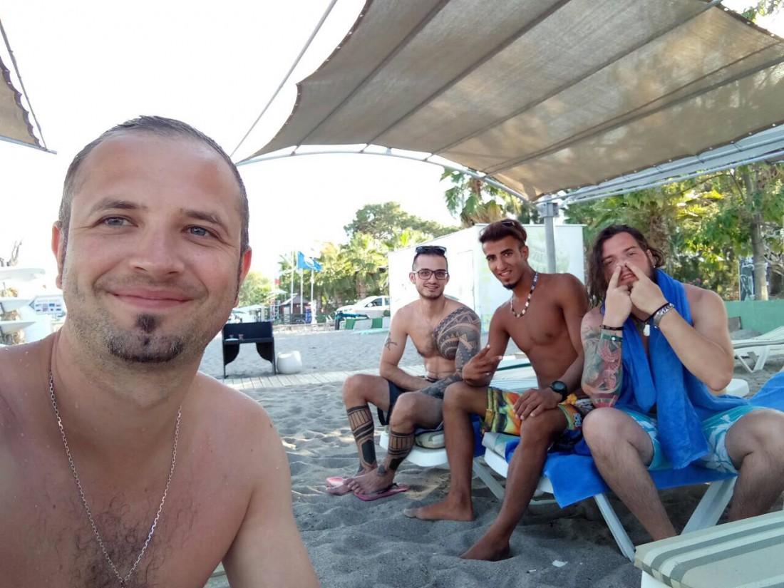 Алексей с друзьями в Турции