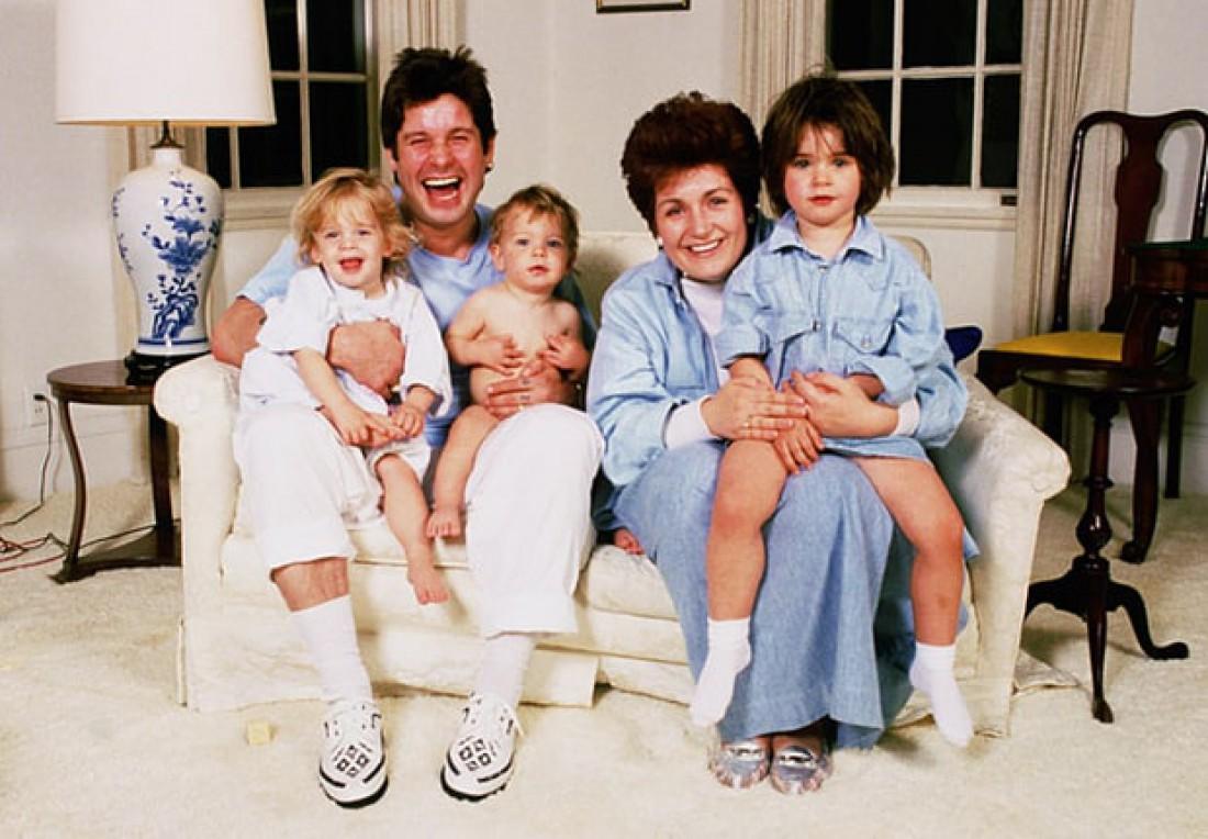 Архивное фото: семья Осборнов в полном составе, 1992 год