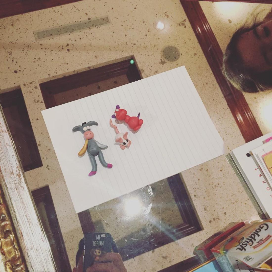 Мурат показал творения дочери из пластилина