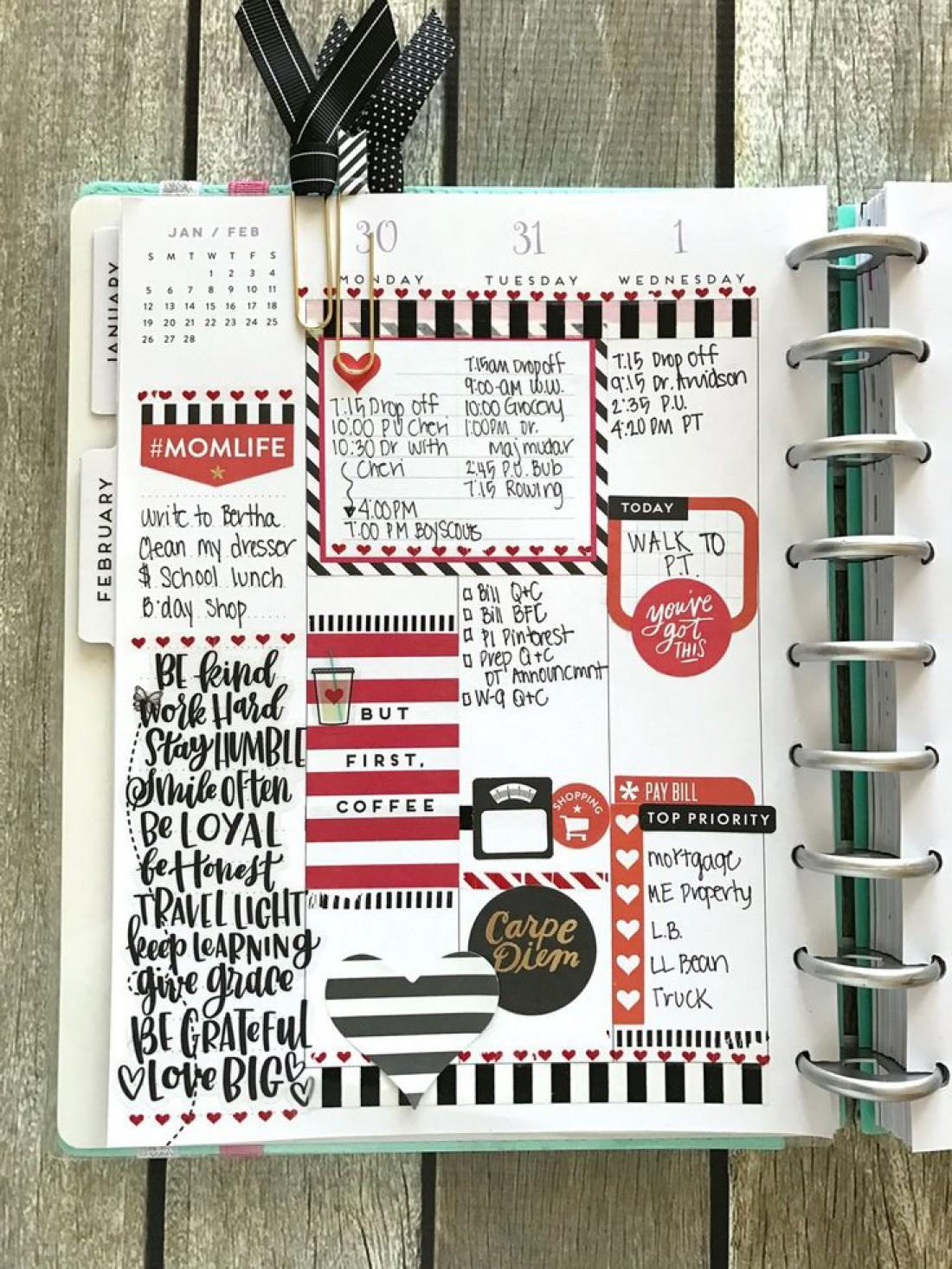 Заведи ежедневник с цветными пометками