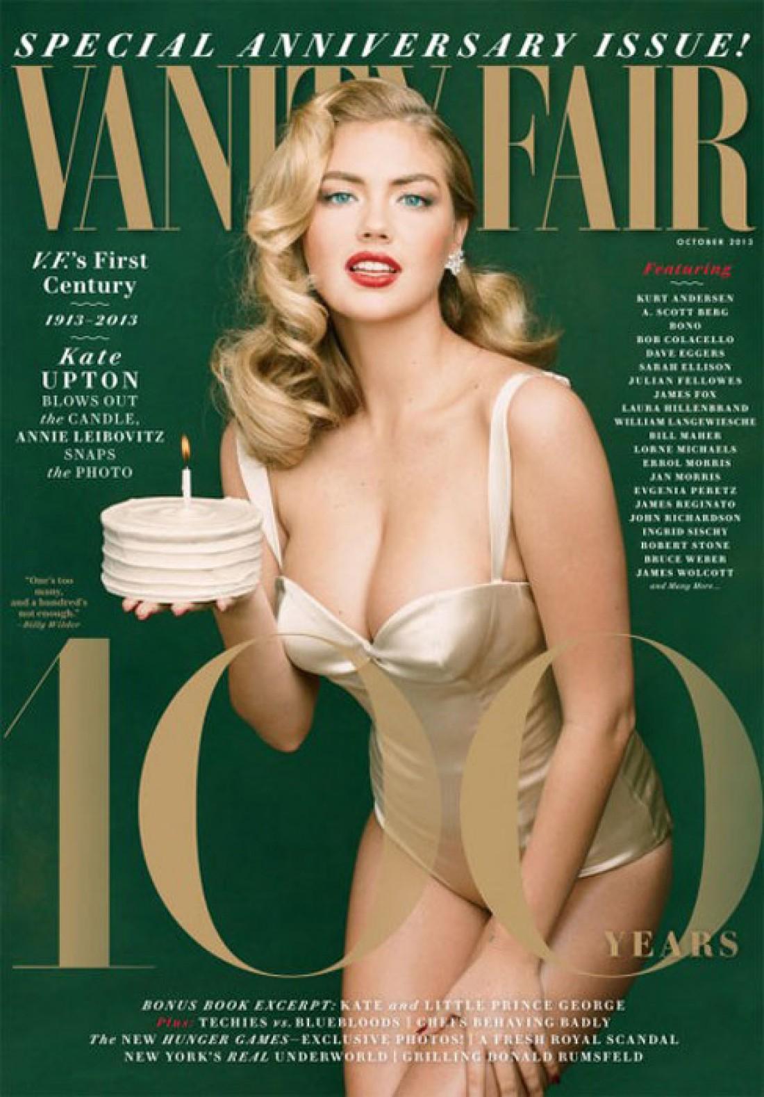 Кейт Аптон на обложке октябрьского выпуска журнала Vanity Fair