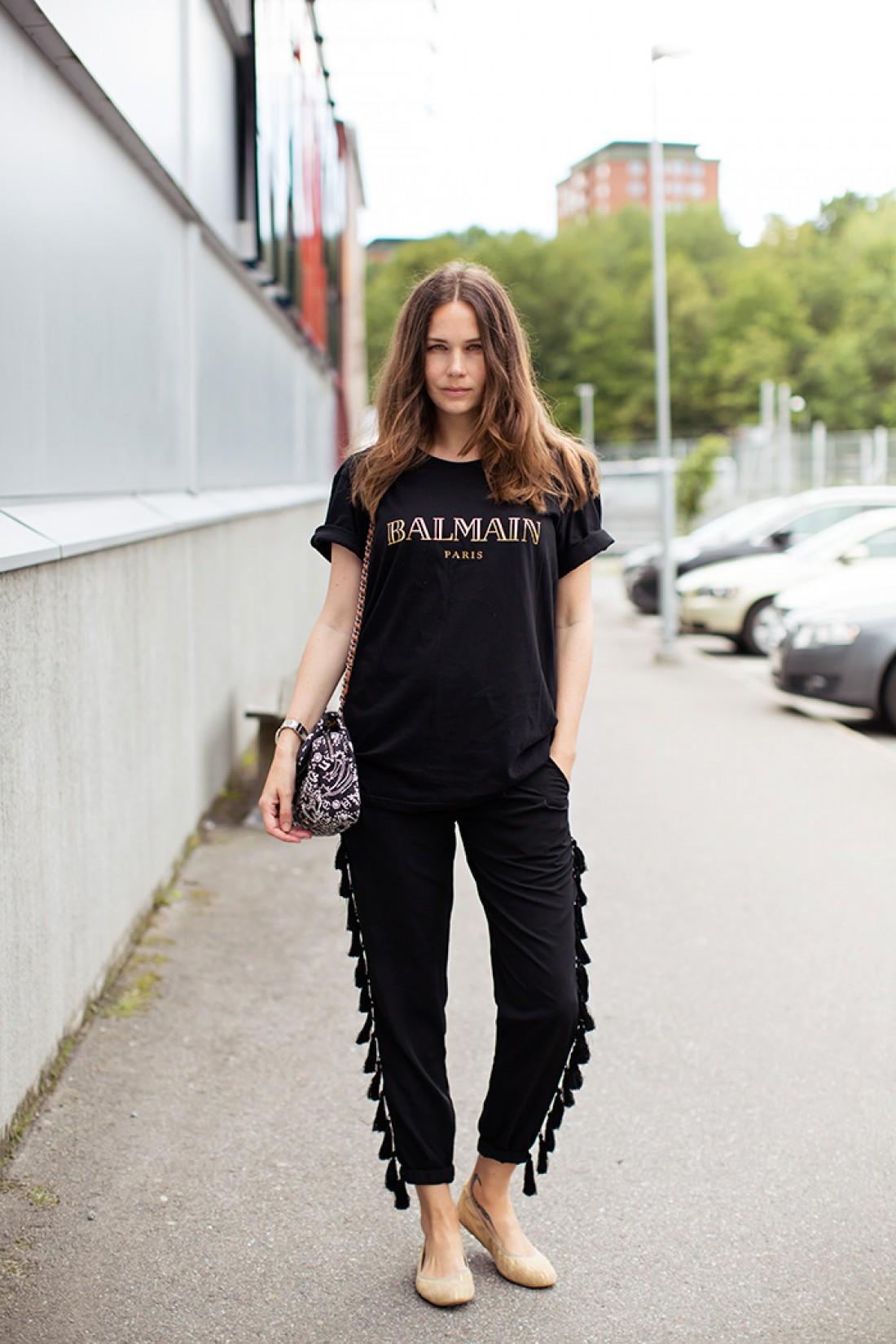 Как носить черный летом: вариант №4