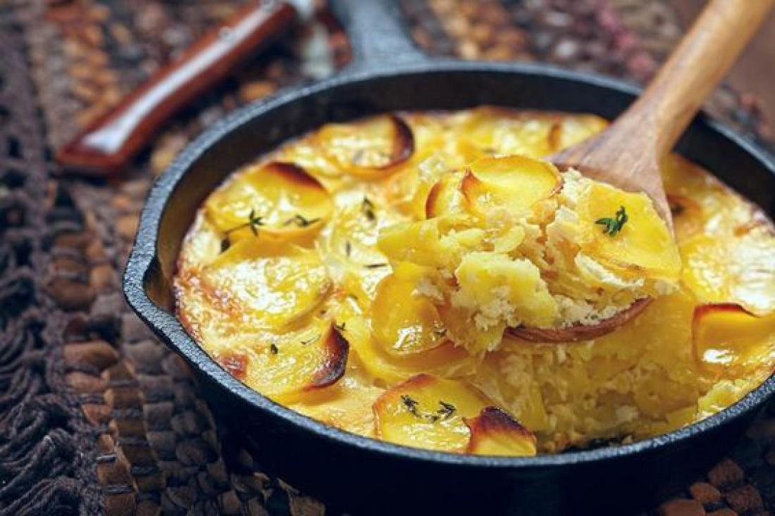 Картофельный гратен с чесноком