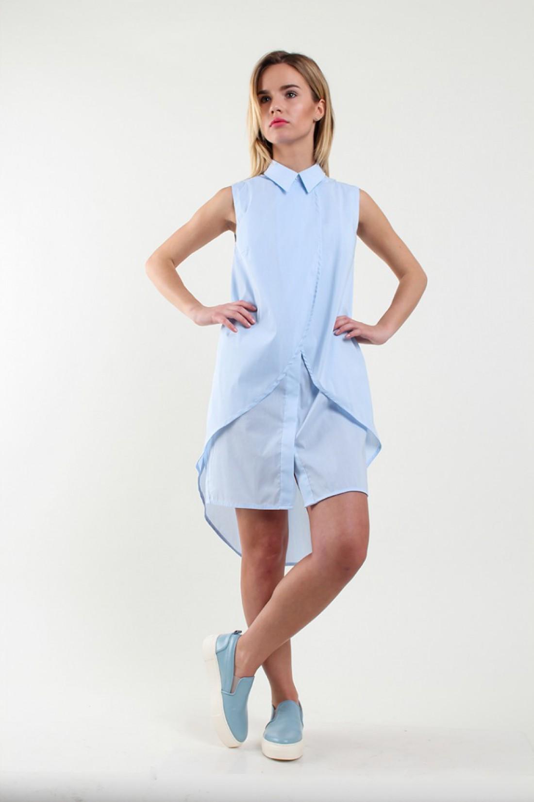 Голубое платье-рубашка от T.Statnaia