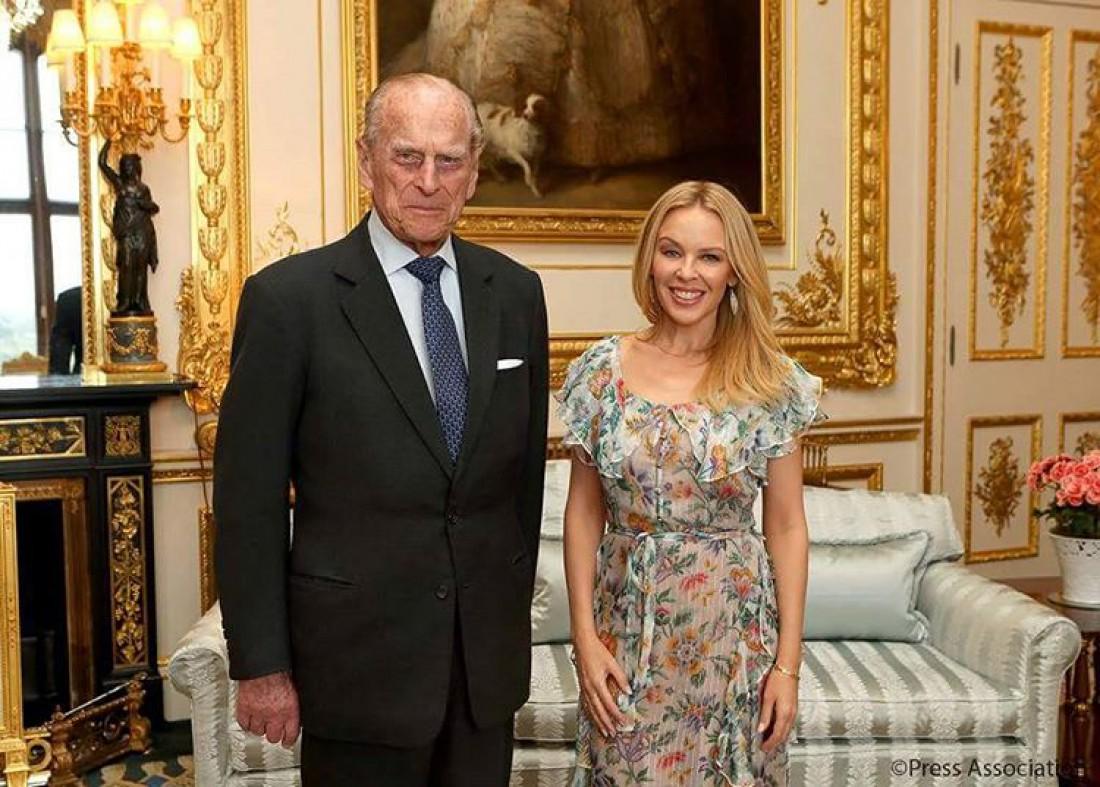 Кайли Миноуг и принц Филипп